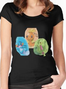Mudkip, Treecko and Torchic Women's Fitted Scoop T-Shirt