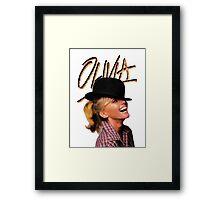 OLIVIA TOTALLY HOT Framed Print