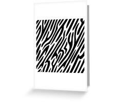 Zebra stripes print 1, fun bold animal print design in black and white, classic statement fashion clothing, soft furnishings and home decor  Greeting Card