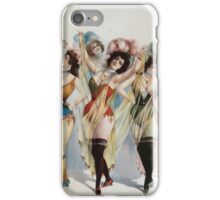 Performing Arts Posters Women wearing brief costumes holding veils with feathers in her hair 0327 iPhone Case/Skin