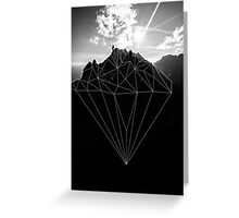 Crystal Mountain II Greeting Card