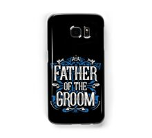 Father of the Groom Bride Blue White Black Ornate Scroll Wedding Bachelor Party Stag Groom's Mob Engagement Samsung Galaxy Case/Skin