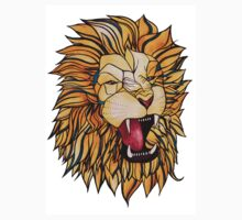 Watercolour and Ink Lion Kids Tee