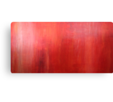 Ember Glow Haze red acrylic modern abstract painting Canvas Print