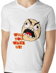 Will You Wake Up from Hells Kitchen Mens V-Neck T-Shirt