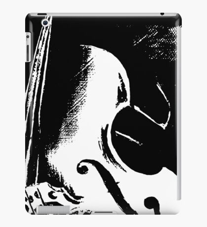 Double Bass Silhouette Painting iPad Case/Skin
