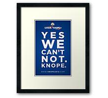 Vote for Knope Framed Print