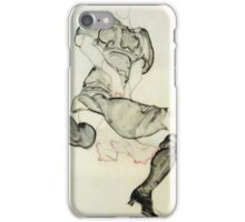 Egon Schiele - Woman With Black Stockings 1912 iPhone Case/Skin