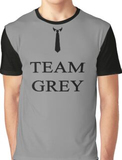 Team Grey Black Graphic T-Shirt