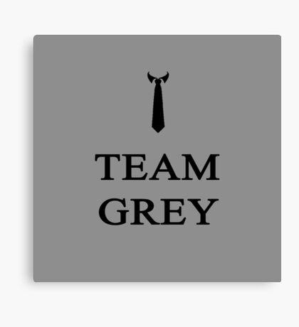 Team Grey Black Canvas Print