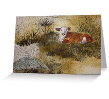 The Resting Cow Greeting Card
