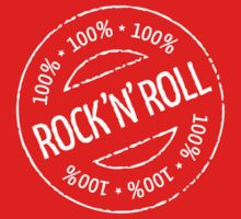 100% Rock 'n' Roll Stamp (White) by MrFaulbaum