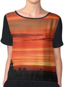 Silhouettes of the Midwest I  Chiffon Top
