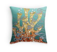 Dancing Coral Party Throw Pillow