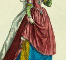Habit of a lady of Padua Fille de Padoue 151 Sticker