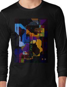 Techno Abstract Long Sleeve T-Shirt