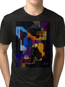 Techno Abstract Tri-blend T-Shirt
