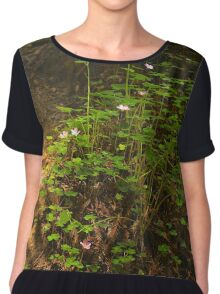 Forest Floor Chiffon Top