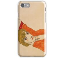 Egon Schiele - Wally In Red Blouse With Raised Knees 1913 iPhone Case/Skin