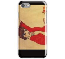 Egon Schiele - Wally With A Red Blouse iPhone Case/Skin