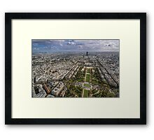 Paris from above 2 Framed Print