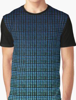 Blue Gradient Watercolor Dots Graphic T-Shirt