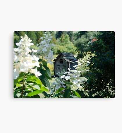 Nestled Bird House Canvas Print