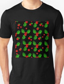 Christmas berries pattern Unisex T-Shirt
