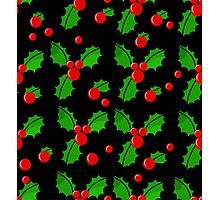 Christmas berries pattern Photographic Print