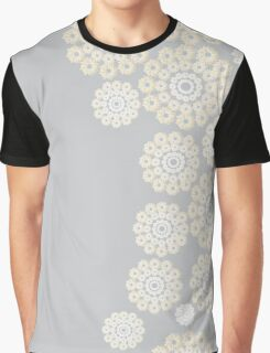 Openwork pattern side Graphic T-Shirt