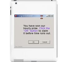 congratulations, you won! iPad Case/Skin