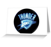 Thunder Oklahoma B Greeting Card