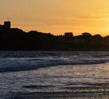 Sunset over Criccieth Castle Sticker