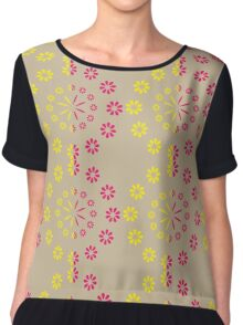 Ornament from halfway flowers Chiffon Top