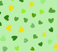 Love, Romance, Hearts - Yellow Green  by sitnica