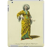 Morning habit of a Grecian lady in 1700 Dame Grecque 442 iPad Case/Skin
