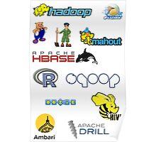 apache hadoop ecosystem sticker set Poster