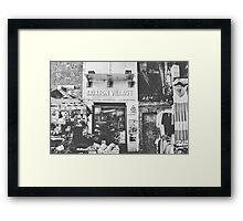 Brixton Village Entrance - Black & White Framed Print