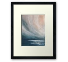 Light on the ocean Framed Print