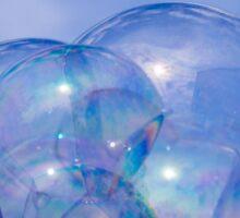 Chateau de bulles dans un ciel bleu Sticker