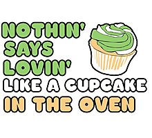Cupcake in the oven Photographic Print