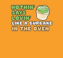 Cupcake in the oven Womens Fitted T-Shirt