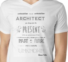 Architecture Quote Mens V-Neck T-Shirt