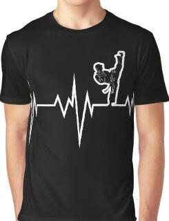 taekwondo heart beat korea martial art Graphic T-Shirt