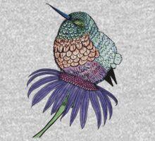 Fluffy Baby Hummingbird Kids Tee