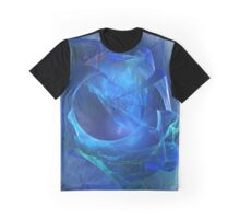 Blue abstract flame Graphic T-Shirt