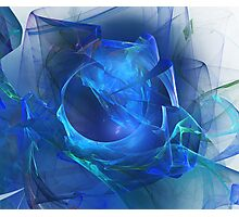 Blue abstract flame Photographic Print