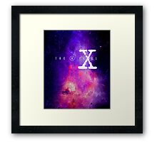 X files galaxy Framed Print