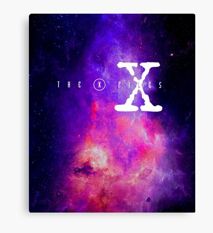 X files galaxy Canvas Print