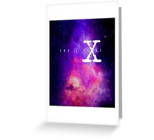 X files galaxy Greeting Card